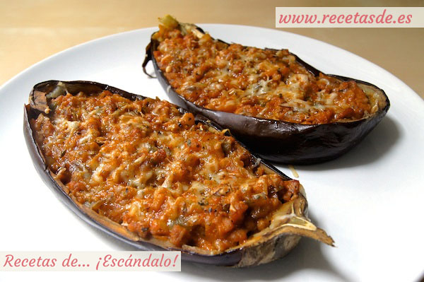 Berenjenas rellenas de carne picada al microondas recetas - Berenjena rellena de carne ...