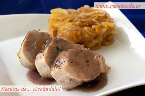 Solomillo de cerdo al horno en salsa con manzana - Solomillo de ternera al horno facil ...